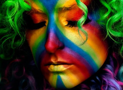 face paint rainbow
