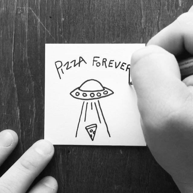Important sticky note reminder.  #pizza #art #illustration