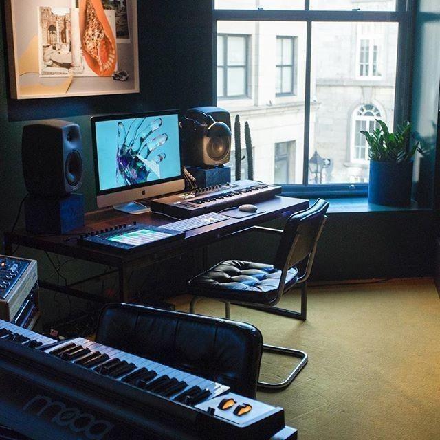 10 Inspiring Small Music Studio Ideas For Apartments Producer Hive Home Studio Music Music Studio Room Home Studio Setup