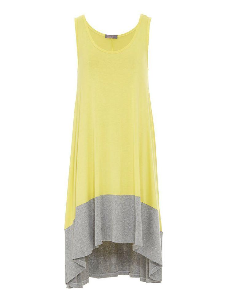 Dress with dipped hem