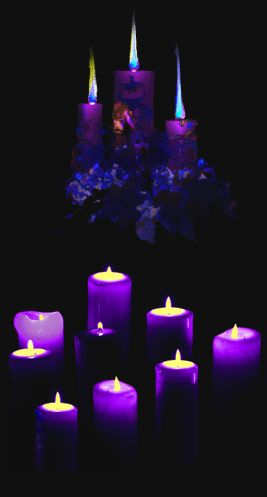 Purple Candles.... always love candles.... this color gives off an aura of spirituality and mystery..... and of course, beauty