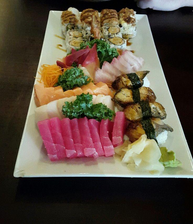 From Sakura Japanese restaurant in Virginia Beach #sushi #food #foodporn #japanese #Japan #dinner #sashimi #yummy #foodie #lunch #yum
