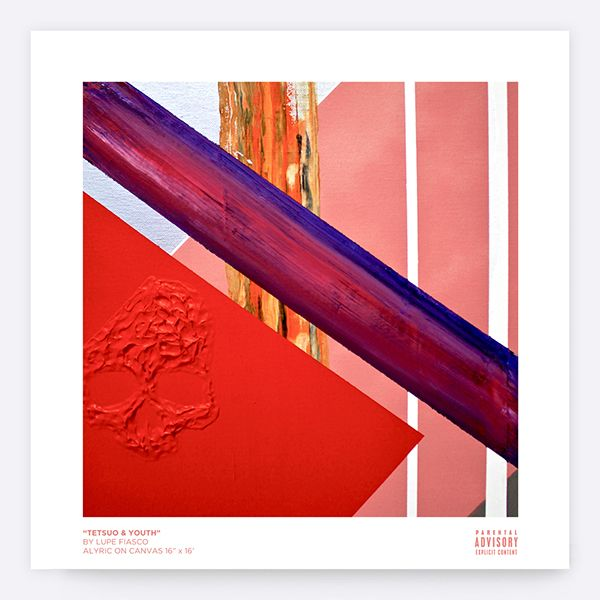 """Art Direction + Design for Lupe Fiasco's """"Tetsuo & Youth"""" album.Painting by Mr. Lupe Fiasco himself.  Assembled by with care by  Virgilio Tzaj with Lupe Fiasco."""