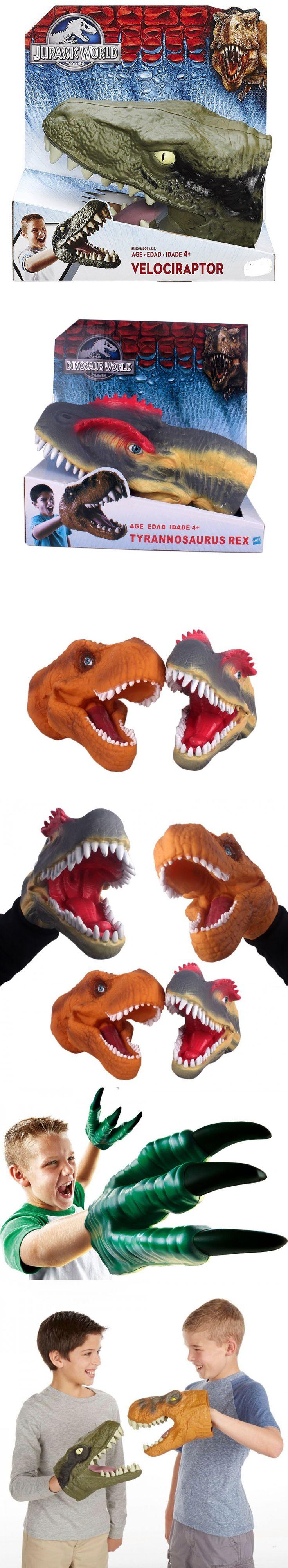 Hand puppet Jurassic World Baryonyx Tyrannosaurus Rex Velociraptor claws Head gloves Kid Toys Model Action Figures Birthday gift