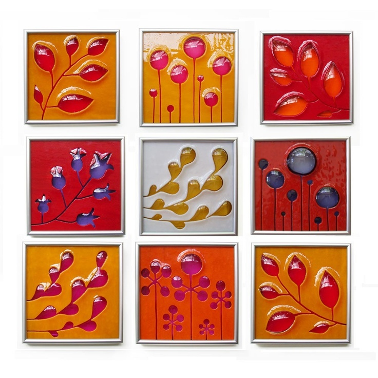 One Custom Hand Carved and Fused Glass Art Tile. $130.00, via Etsy.