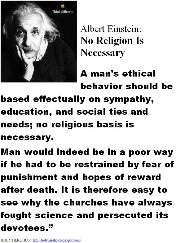 No Religion Is Necessary - Albert Einstein