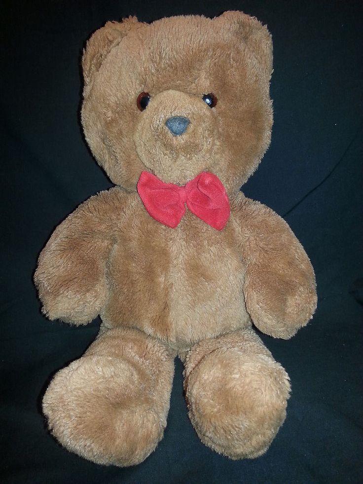 Honey Jo Teddy Bear Dakin Brown Red Bow Tie Vintage 1986 ...