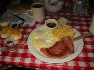yep you're in the south if you're eating ham and red eye gravy!