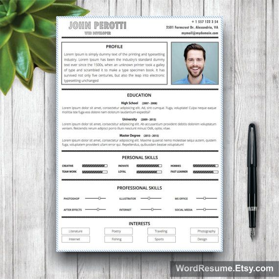 30 best resume template images on Pinterest Resume ideas, Resume - is a cv the same as a resume