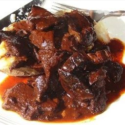 This is an excellent way to serve up any form of venison or other meat.  - Billy's Bar-b-que (Crockpot Venison)