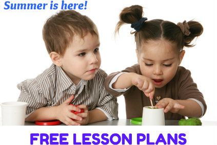 Free AT HOME summer LESSON PLANS for preschool & elementary ed.