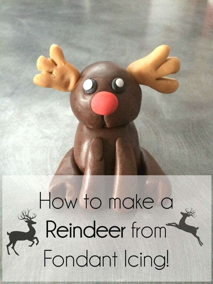 How to make a Reindeer out of Fondant | A tutorial to help you to make the most adorable cakes this Christmas!