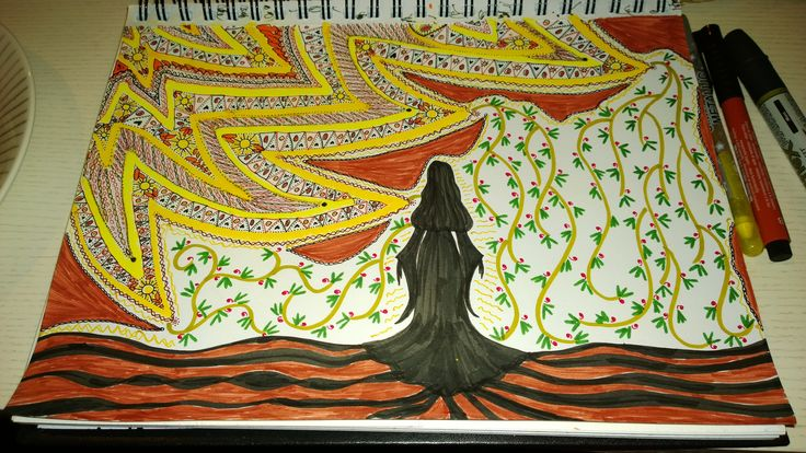 I draw when I travel within <3