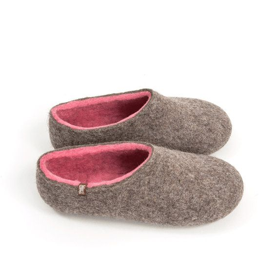 Women's Felted Slippers Handmade in Organic Wool House by Wooppers