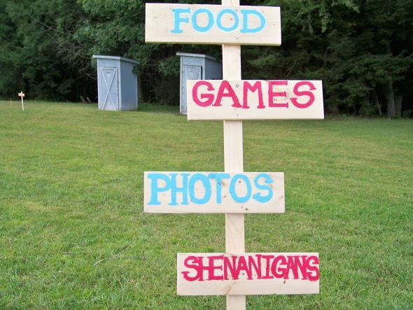 Rustic Vintage wedding Items / Carnival Themed Party :  wedding Carnival Signs