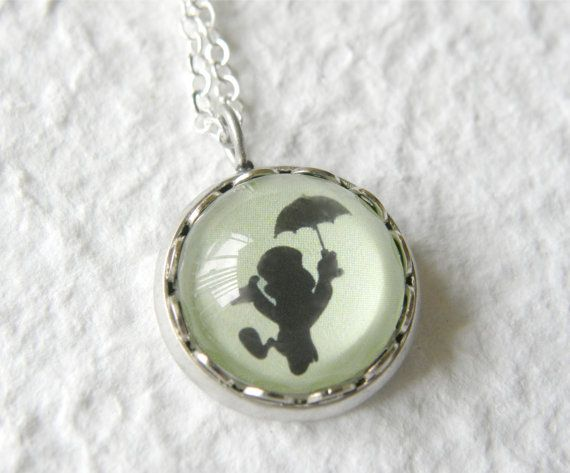 Jiminy Cricket's Shadow Petite Necklace featuring Jiminy Cricket - Inspired from Disney's Pinocchio. $15.00, via Etsy.