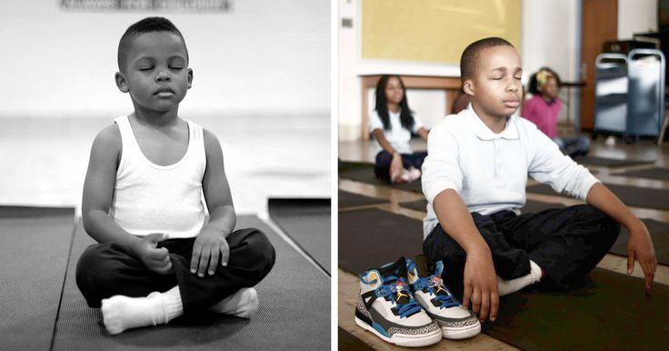 Cette initiative fait partie d'un programme parascolaire qui vise à enseigner aux enfants la méditation et les exercices de respiration.