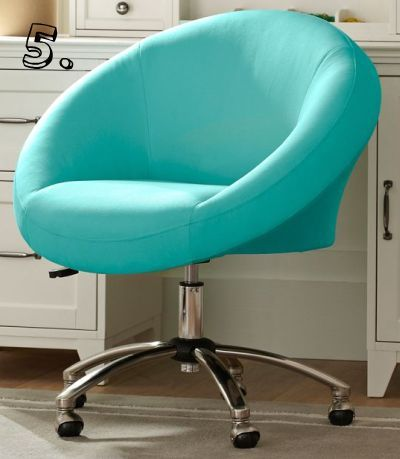 Gorgeous robin 39 s egg blue office chair aqua desk for Colorful office furniture