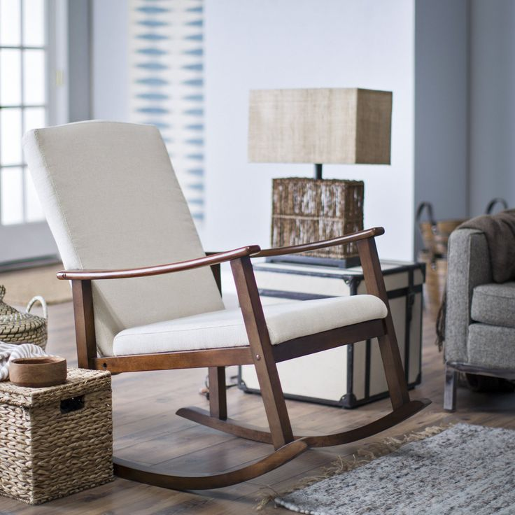 Belham Living Holden Modern Rocking Chair   Upholstered   Ivory   $199.99  @hayneedle