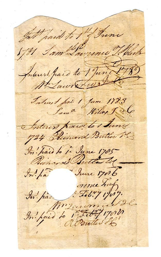 Three 18th c cancelled promissory notes Colonial Pinterest - promissory notes