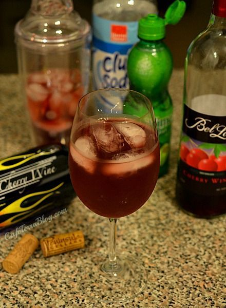 Cherry Wine Limeade Spritzer - Perfect Summer cocktail that is very refreshing! This recipe is very versatile and easy to make for those wine lovers.