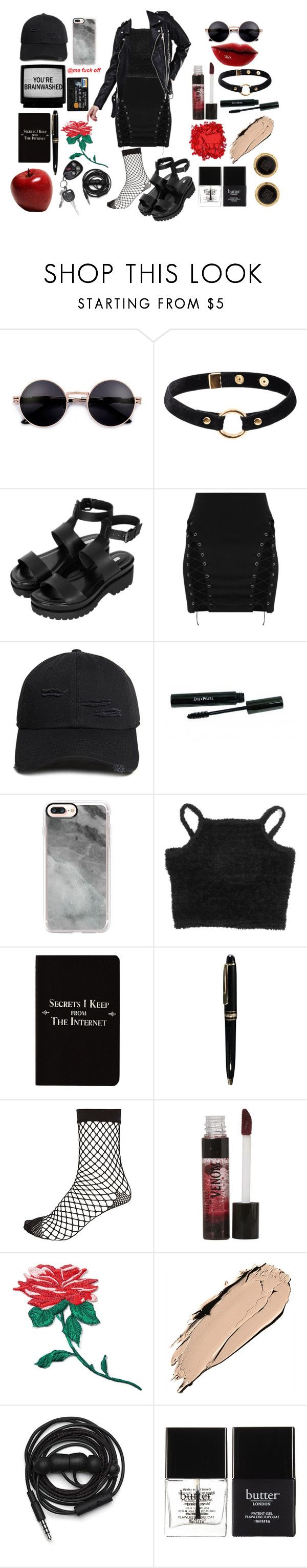 """""""O"""" by theflyingpanda ❤ liked on Polyvore featuring Nika, Topshop, 21 Men, Casetify, Rich and Damned, Mont Blanc, River Island, DuWop, band.do and NARS Cosmetics"""