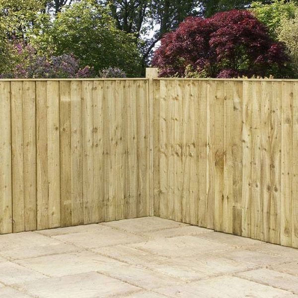 Heavy Duty Wooden Fence Panels 6 x 6 Tantalised Pressure Treated Feather Edge