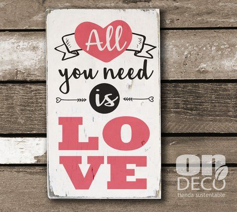 Cartel vintage | All you need is love - comprar online