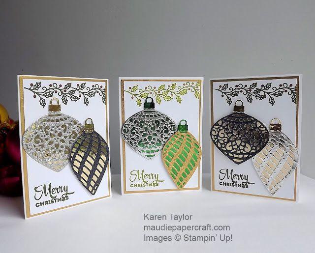 手机壳定制vintage costume jewellery Stampin   Up Delicate Ornaments Christmas cards