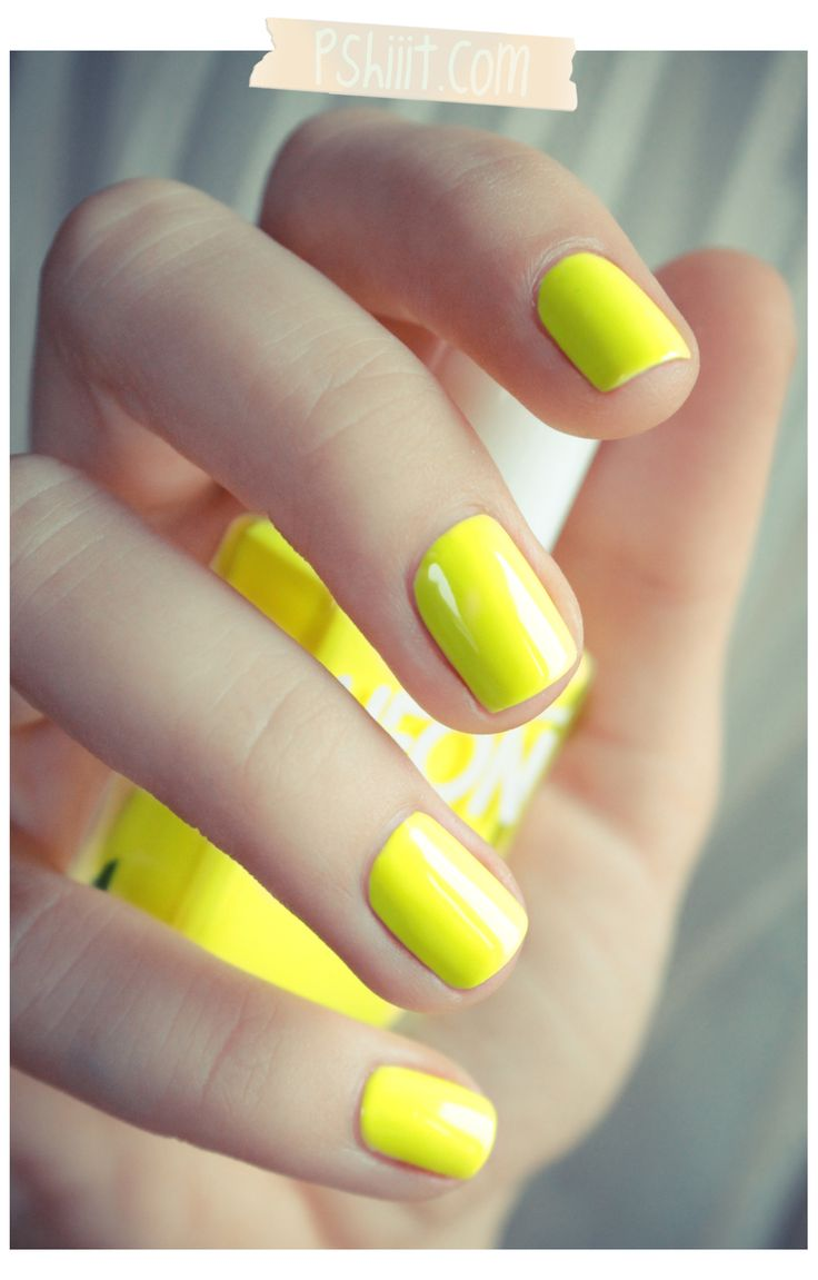 neon yellow...add some red stitches...viola! Softball nails  :)
