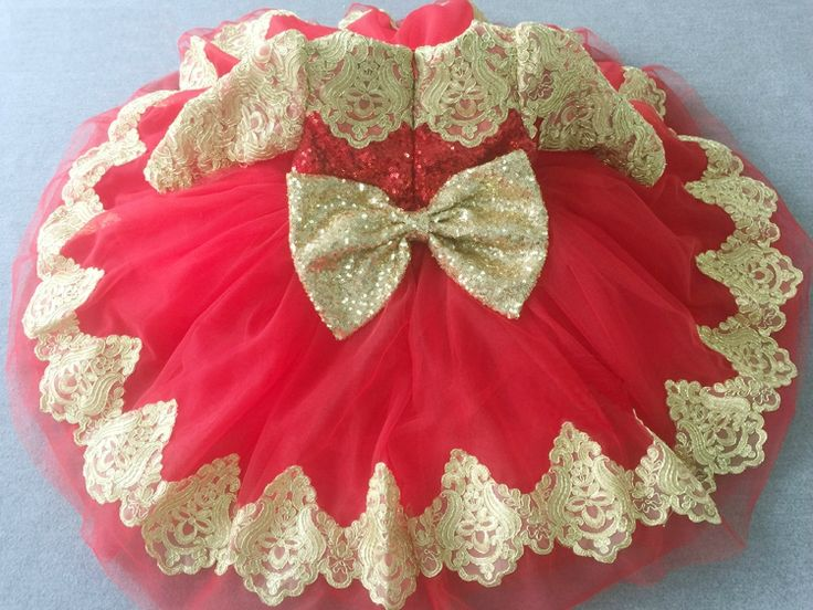 Gold & Red Long Sleeve Embroidered Sequin Baby Toddler Little & Big Girl Tutu Dress Perfect for birthday, wedding or any special occasion. Available from Newborn - 15 Years. Material: Sequin, lace, tulle mesh, purified cotton lining. #babygirlbirthdayoutfit #goldandredchildrenpartydress #princessdress #redprincessdress #goldandredsequindress #littlegirlpartydress