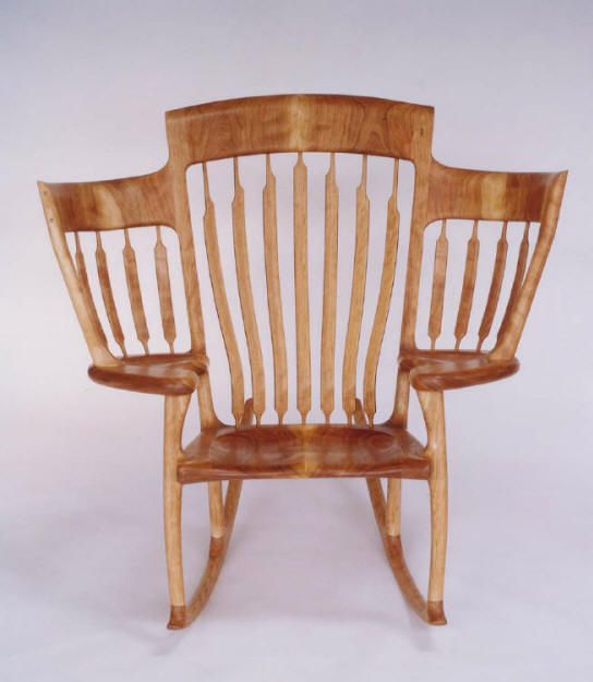 Want this! Hal Taylor's award-winning Storytime Rocking Chair. Three seats in one (perfect for a growing family) #bookishfurniture
