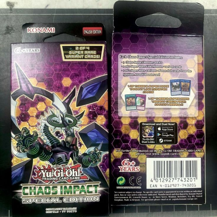 Yugioh trading card game chaos impact special edition