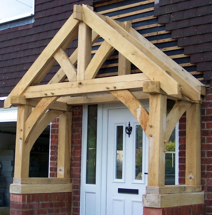 67 best trusses images on pinterest oak frame house for Timber frame porch designs