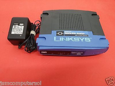 Linksys EtherFast 100 Mbps 4-Port 10/100 Wired Cable / DSL Router (BEFSR41) MINT
