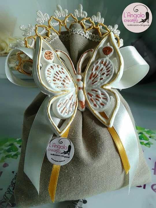 Bomboniera Matrimonio Wedding Collezione Farfalle interamente artigianale...