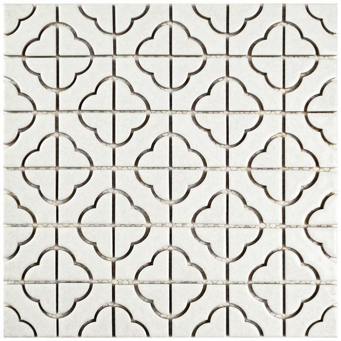 elitetile castle porcelain glazed mosaic tile in off white - Matchstick Tile Castle 2016