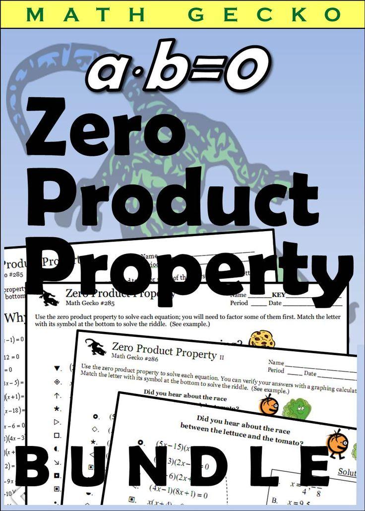 Zero Product Property Bundle With Images Solving Quadratic