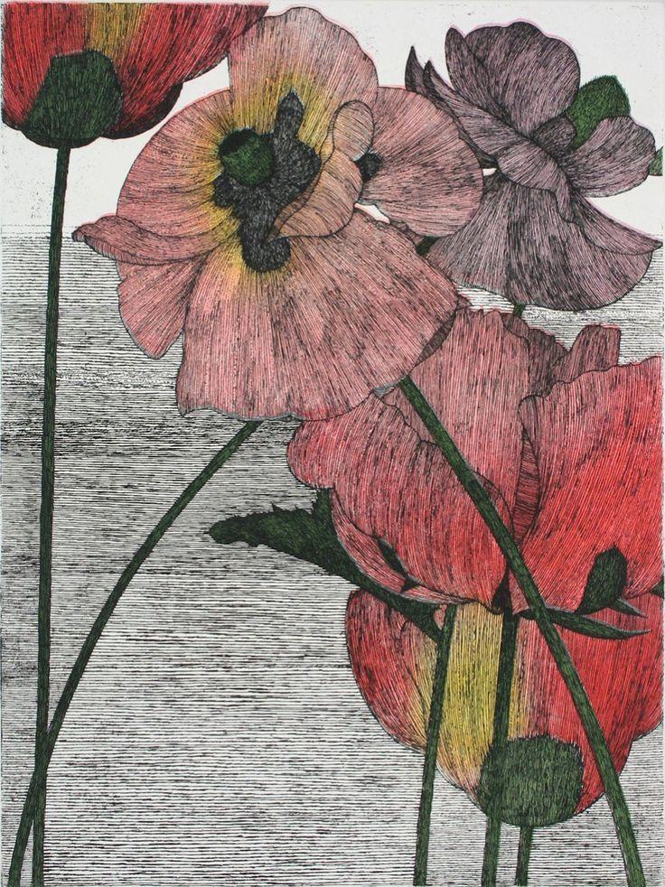 Art Hansen : Six Poppies at Davidson Galleries