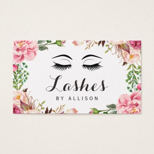 16 best best selling business cards images on pinterest business eyelashes makeup artist romantic floral wrapping business card colourmoves