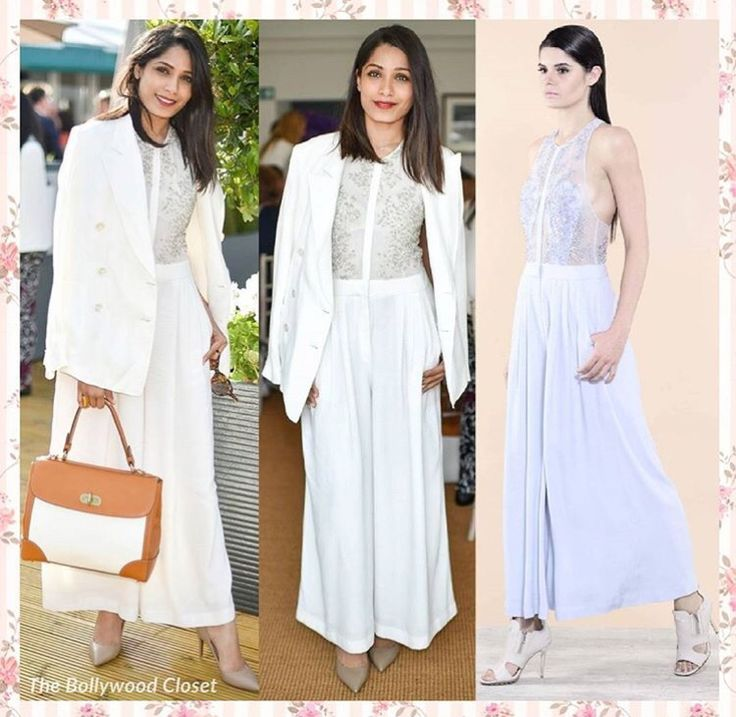 Freida pinto # Rohit Gandhi Rahul Khanna # office look # white crispness # fusion office wear