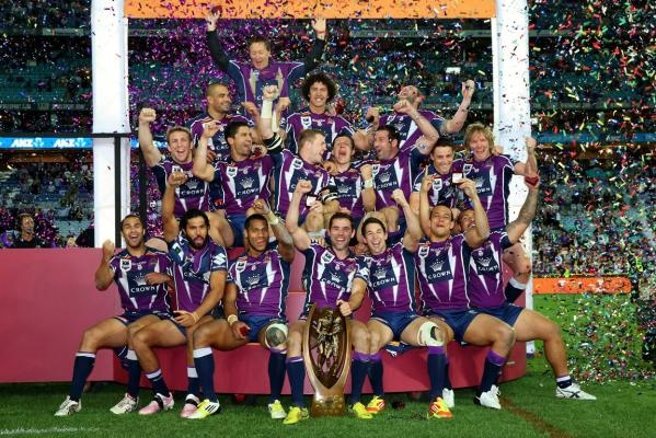 The 2012 NRL Premiers, the Melbourne Storm.