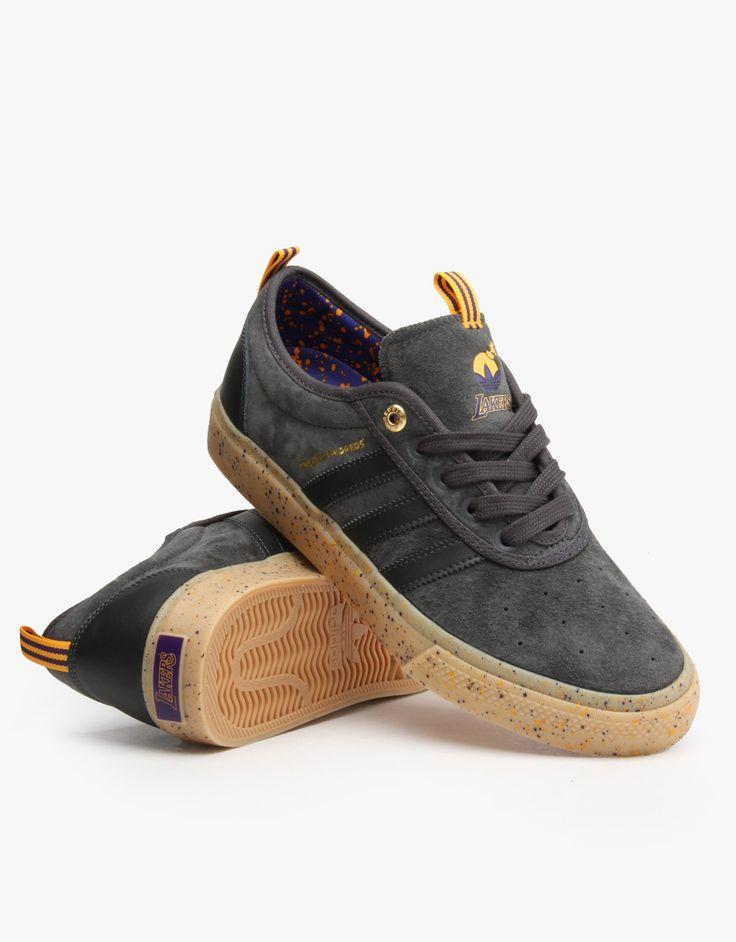 Adidas NBA x The Hundreds Adi-Ease Adv Skate Shoes - Grey/Purple/Gold