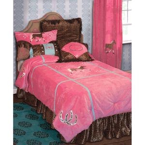 Cerra would love this for her room-Cowgirl Leopard Bed Set - Twin