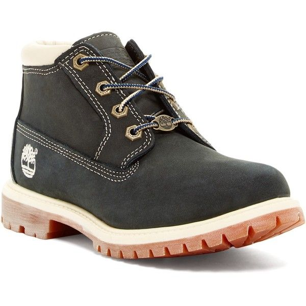 Timberland Nellie Waterproof Chukka Boot ($80) ❤ liked on Polyvore featuring shoes, boots, blue, timberland boots, blue shoes, round toe boots, timberland shoes and lace up shoes