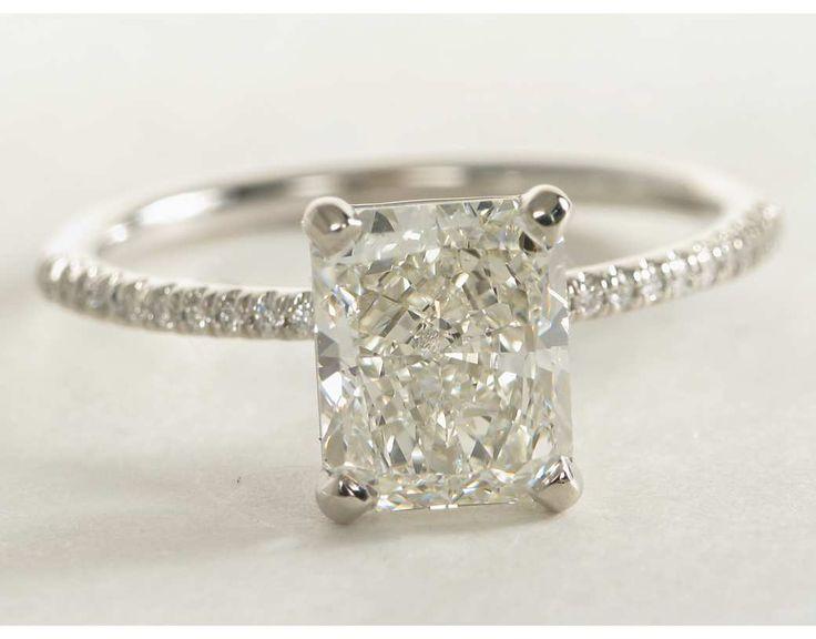 2.01 Carat Diamond Petite Micropavé Diamond Engagement Ring   Recently Purchased   Blue Nile