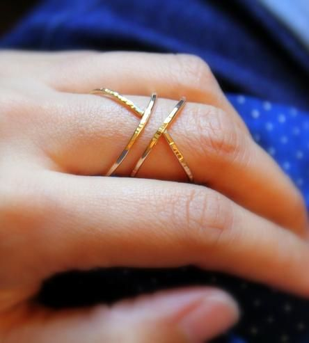 Hammered Siren Ring by Elisha Marie Jewelry