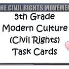 Modern Culture - Civil Rights Movement  Separate but equal, Brown v. Board of Education, Little Rock Nine, Montgomery Bus Boycott, Rosa Parks, civil rights movement, Civil Rights Act of 1...