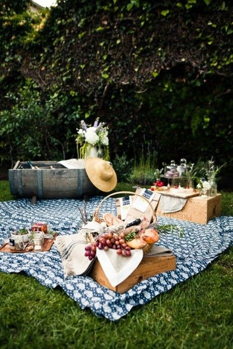 French picnic with lovely cheeses, breads, and fruit