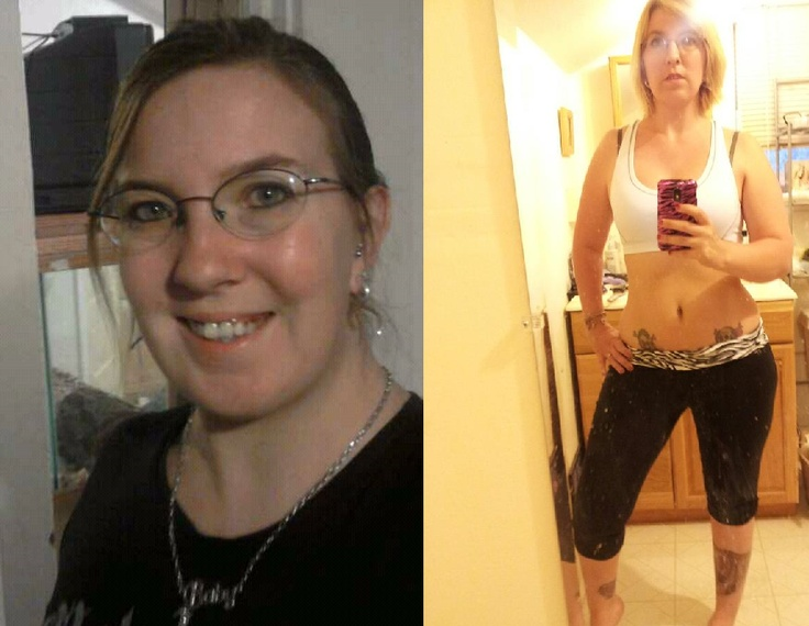 "My before and current ""during"" photo. I don't have any full body before photos, I didn't like my body then, but you can tell just seeing the difference from my chubby round face to where I'm at now. And now I have more than enough confidence to take full body photos again :-)"